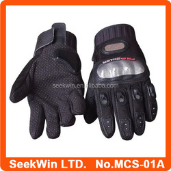 Carbon Fiber Motorcycle Gloves Leather Motorbike Gloves Auto Racing Gloves MCS-01A