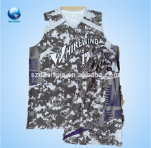 Reversible sublimation custom basketball jersey design&2015 basketball wear