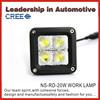 super bright off road 24w led work light marine led light E-mark,ROHS, IP68 waterproof car led tuning light