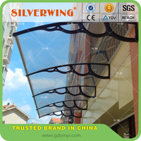 DIY assembly plastic arms outdoor canopy shelter wind resistant canopy for balcony