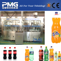 Automatic 3-in-1 Soft drink filling machine with pneumatic valve