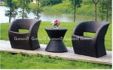 plastic outdoor furniture rattan modern cafe chairs and tables