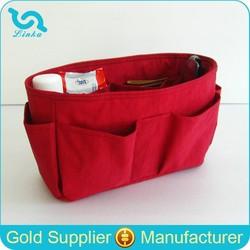 Custom Women Travel Insert Handbag Organizer Lightweight Water Resistant Nylon Handbag Organiser