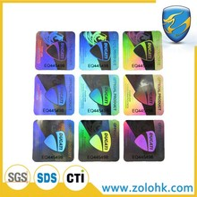 Custom 3D laser prints hologram sticker for anti-counterfeiting