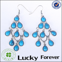 Deep blue color cheap turquoise dangle earring for women