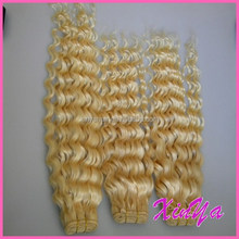 2015 7A Grade Virgin Indian Blonde color #613 curly weave