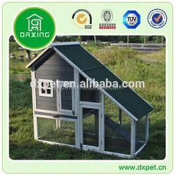 Wooden pet design small cheap garden 2 storey rabbit hutch house
