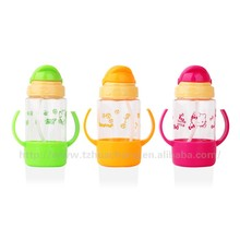 best selling 350ml plastic water bottle with straw cups children water bottle