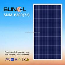 cheap price per watt solar panels 200w by wood pallets