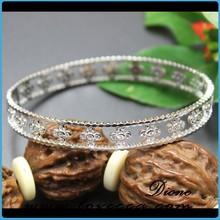 New women jewelry wholesale cuff sterling silver flower bracelet in italy market