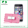 TPU+PC Smartphone Support clip Anti-throw hybrid cell phone combo case 8 colors for iphone 6 / 5 / 4
