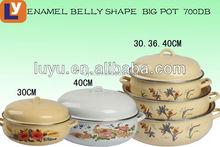 High quality 3pcs casserole set tomato shaped enamel cookware
