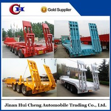 2015 hot sale low bed semi trailer 60 ton with dolly for sale