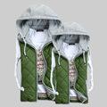 de alta calidad chaleco de seguridad con chalecos cálido con capucha popular chaleco de los hombres