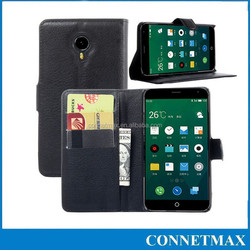 For MEIZU MX4 magnetic PU Leather slot wallet Cover stand Flip Case