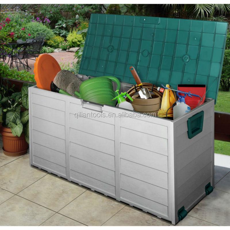 2015 New Plastic Garden Outdoor Storage Bin Deck Cushion