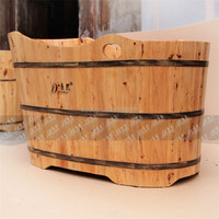 fashion design wooden bathtub wooden vertical bathtub