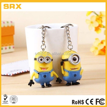 OEM 2pcs Keychain Set Movie Minions Action Figure 3D Minion Collectibles Gift in factory price