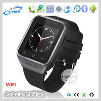 Fashion design 3G 2G GSM dual core sim card Android OS v4.4 wrist mobile watch cell phone 3g with tv price list with G-Sensor