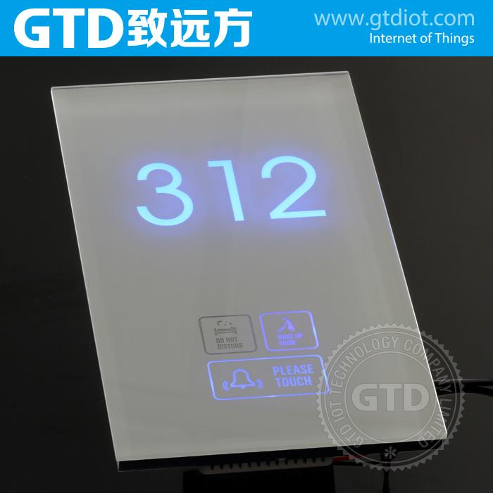 Crystal white tremp panneau de verre tactile sonnette for Numero de chambre hotel