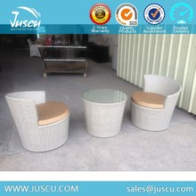 Garden Wicker Rattan Outdoor Furniture Patio Small Coffee Table and Chairs