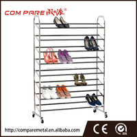 8 layer living room fumiture, chrome plating shoe rack for 32 pair shoes