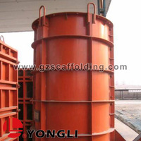 Flexible Steel Metal Round Curved Concrete Column Wall Form for Sale