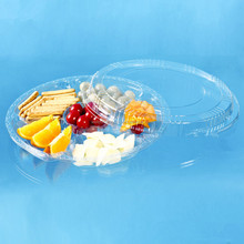 compartment clear plastic food wedding tray