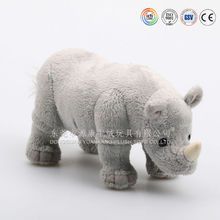 Stuffed grey rhinoceros toys Wholesale
