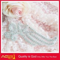 Decorative Real Rhinestone Trim Bridal Accessories Wholesale bling images of embroidery designs
