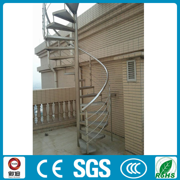 Outdoor Used Prefabricated Iron Anti Fire Spiral Stairs