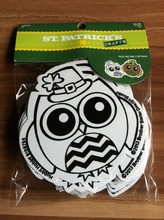 Early learning velvet Flocked drawing paper fuzzy art OWL crafts set for children above 4 years old