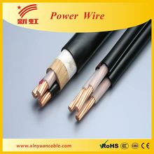 0.6/1kv copper core flat wire power cable with drain wire