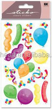 Hot sale lovely Party Balloons Metallic Sticko sticker