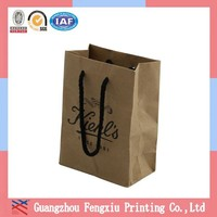 Eco Friendly Square Bottom Customized Brown Paper Grocery Bags