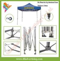 Promotional hexagon 50mm aluminum trade show pop up tent ez up shelter