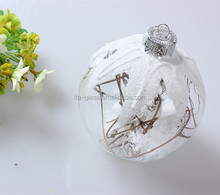 china manufacturer wholesale decorative hanging hand painting high quality glass ball decoration with aluminum cap