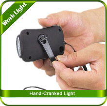 Hand-Crank power, no dry battery or bulb required 3Led Light