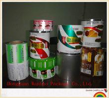 Plastic laminated roll film for food/liquid/cosmetic