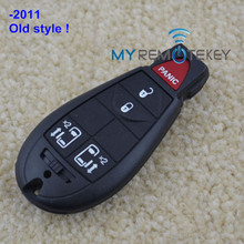 Fobik car remote 4 button with panic auto key for M3N5WY783X Chrysler 300C remote key