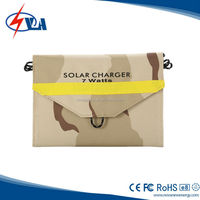 7W Folding portable solar panel charger for laptop or phone