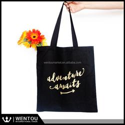 Wholesale Monogrammed Black Canvas Tote Bag