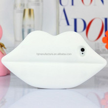3D cute sexy lips soft silicone customize lip case for Apple iphone 6 4.7''