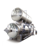 Double Layers Water Immersion Autoclave Steam Retort For Pouch steam retort for pouch