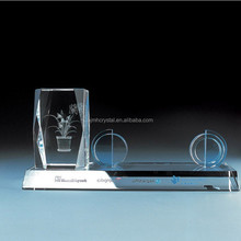 Unique Optical crystal pen holder with customize design MH-B0143