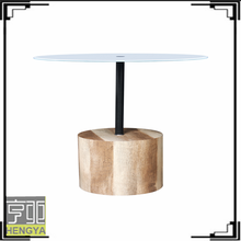 New design round stone top latest dining tables designs