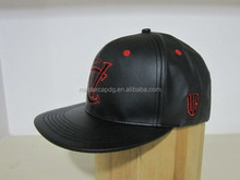 Design your own black leather Snapback Cap 2015 Hot
