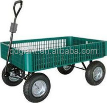 Beach cart TC1858 with plastic tray and pneumatic wheel