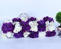 Fase de casamento ou backgroud branco decorativa arranjo de flor hortênsia