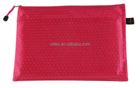 waterproof a4 pouch bag made of Oxford fabric Nylon Oxford with zipper,pvc ziplock bag